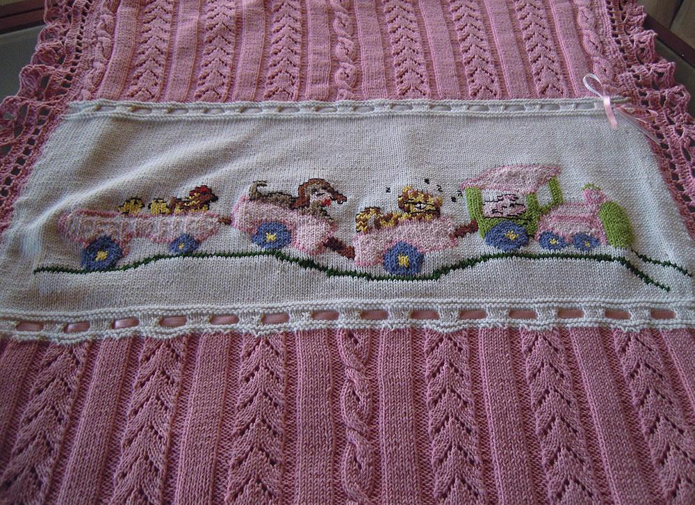 çok şirin örgü bebek battaniyeleri