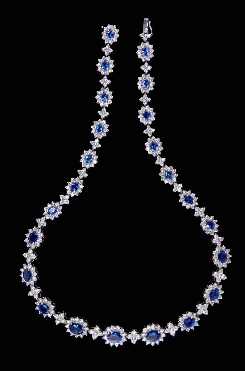 Designer diamond necklace kolye modeli