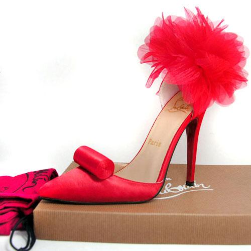 Kumaş Kırmızı Gece Ayakkabısı