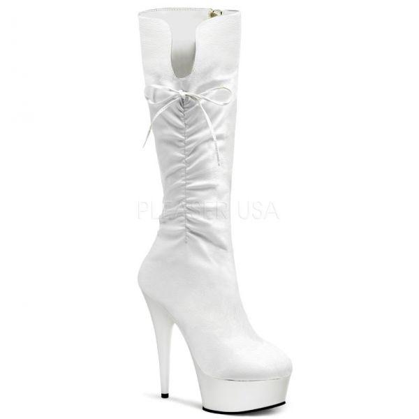 beyaz bağcıklı çizme modeli