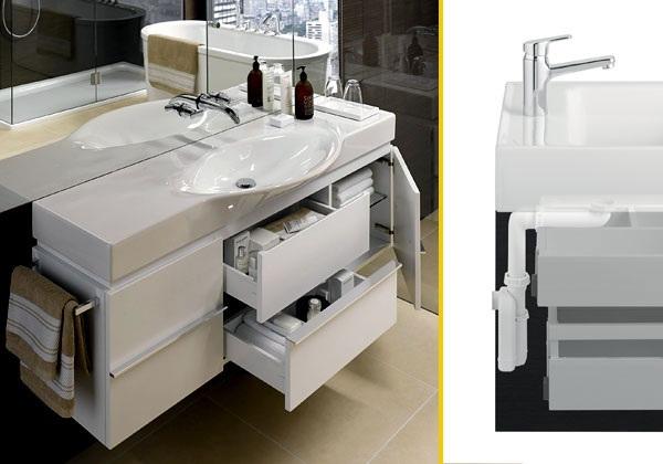 beyaz farklı banyo modeli