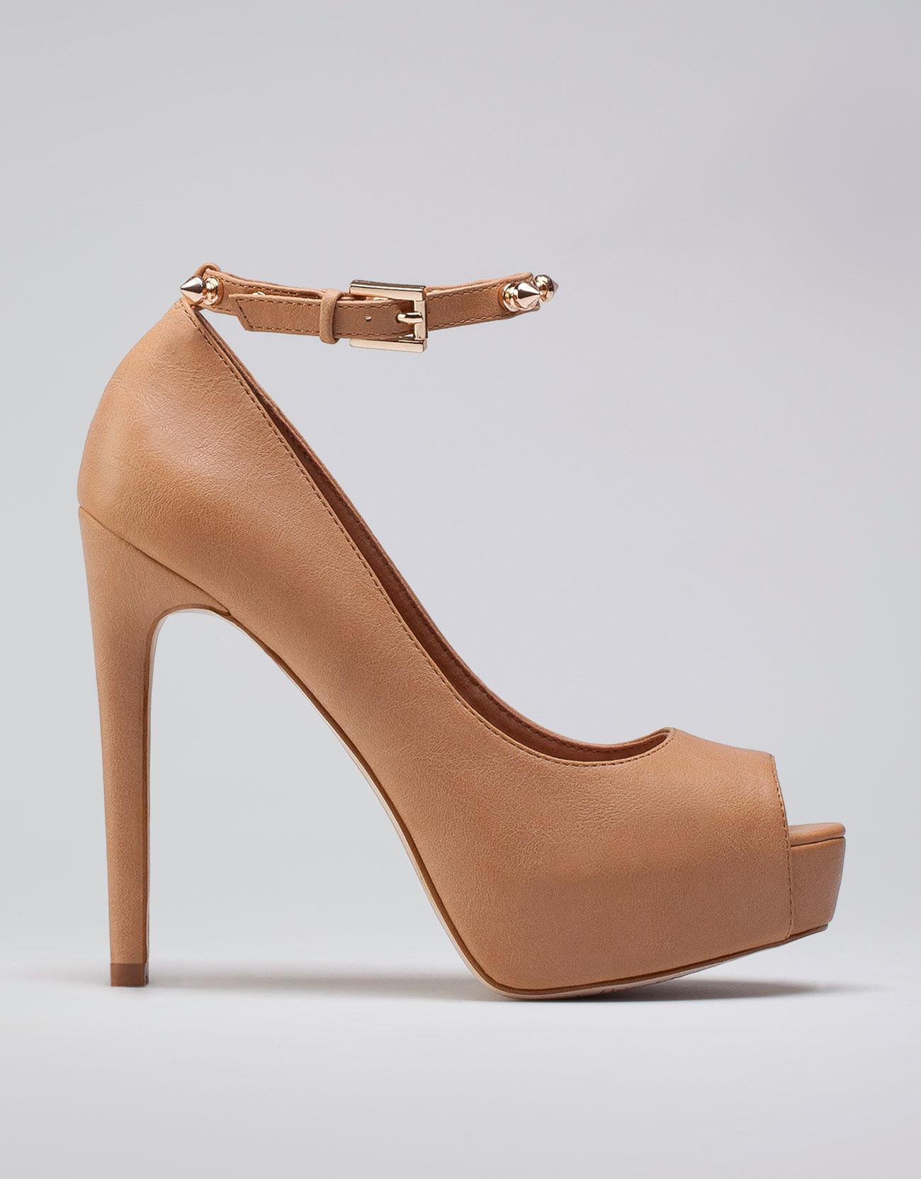 bronz kemerli ayakkabı modeli