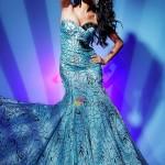 desenli kumaş bol kesim balık elbise modeli