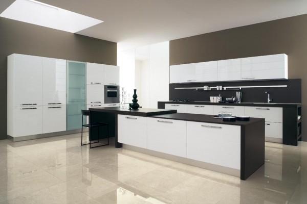Farkl siyah beyaz mutfak dolab - Prezioso casa cucine moderne ...