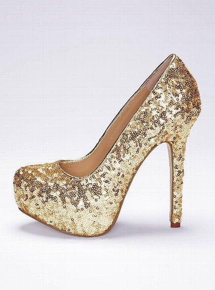 gold pullu gece ayakkabısı