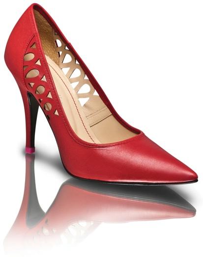 kırmızı  sade ve şık ayakkabı modelleri
