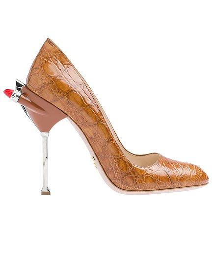 kahve yılan derisi ayakkabı modeli