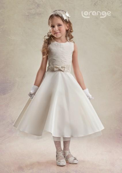 Yılın çocuk abiye elbise modelleri krem çocuk abiye modeli