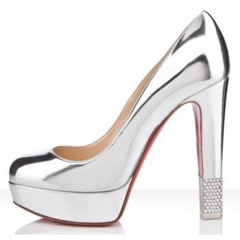 lame parlak platform topuklu abiye ayakkabı