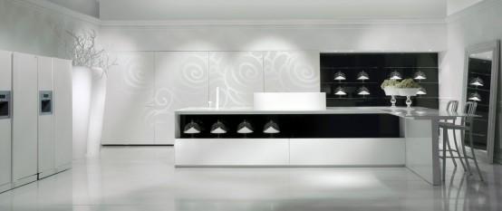 muhteşem siyah beyaz mutfak dolabı