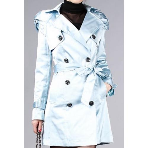 parlak mavi Burberry trençok modeli trend ürün