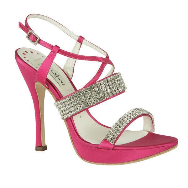 pembe taş işlemeli abiye ayakkabı modeli