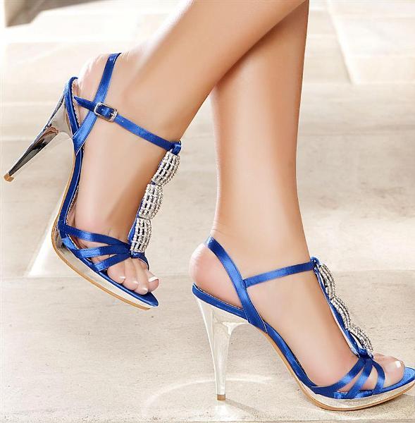 saks mavisi önü taşlı ayakkabı