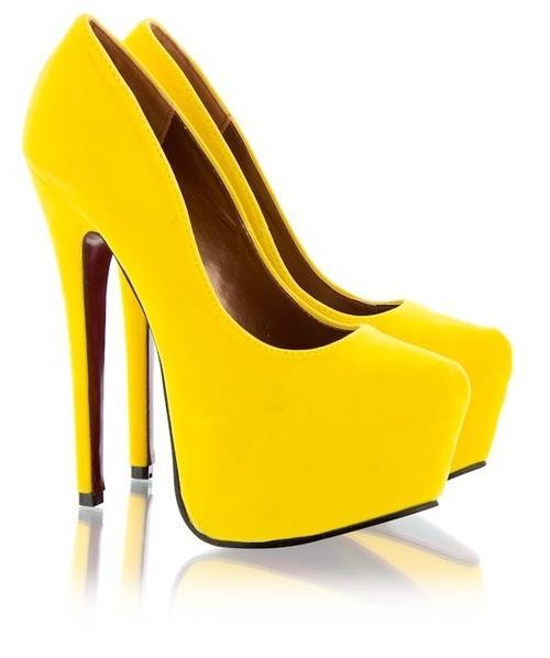 sarı neon kapalı ayakkabı