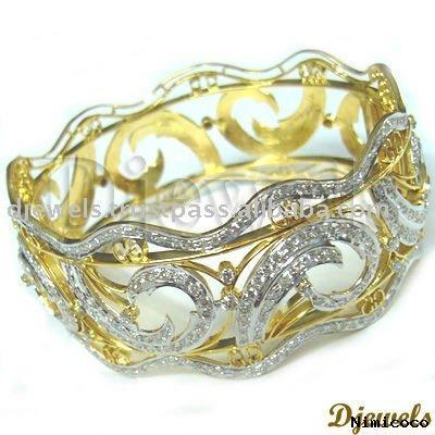 sarı ve beyaz altın bilezik modeli