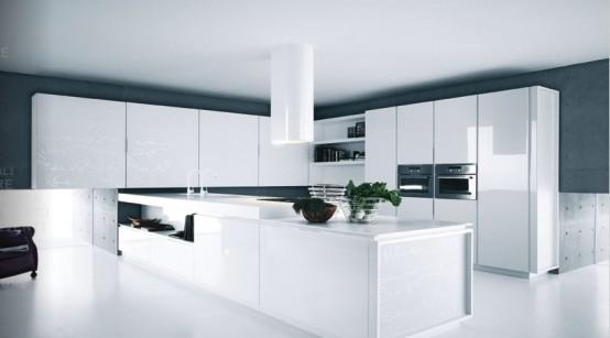 siyah beyaz modern mutfak dolabı