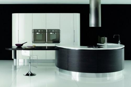 siyah beyaz ultra lüx mutfak dolabı