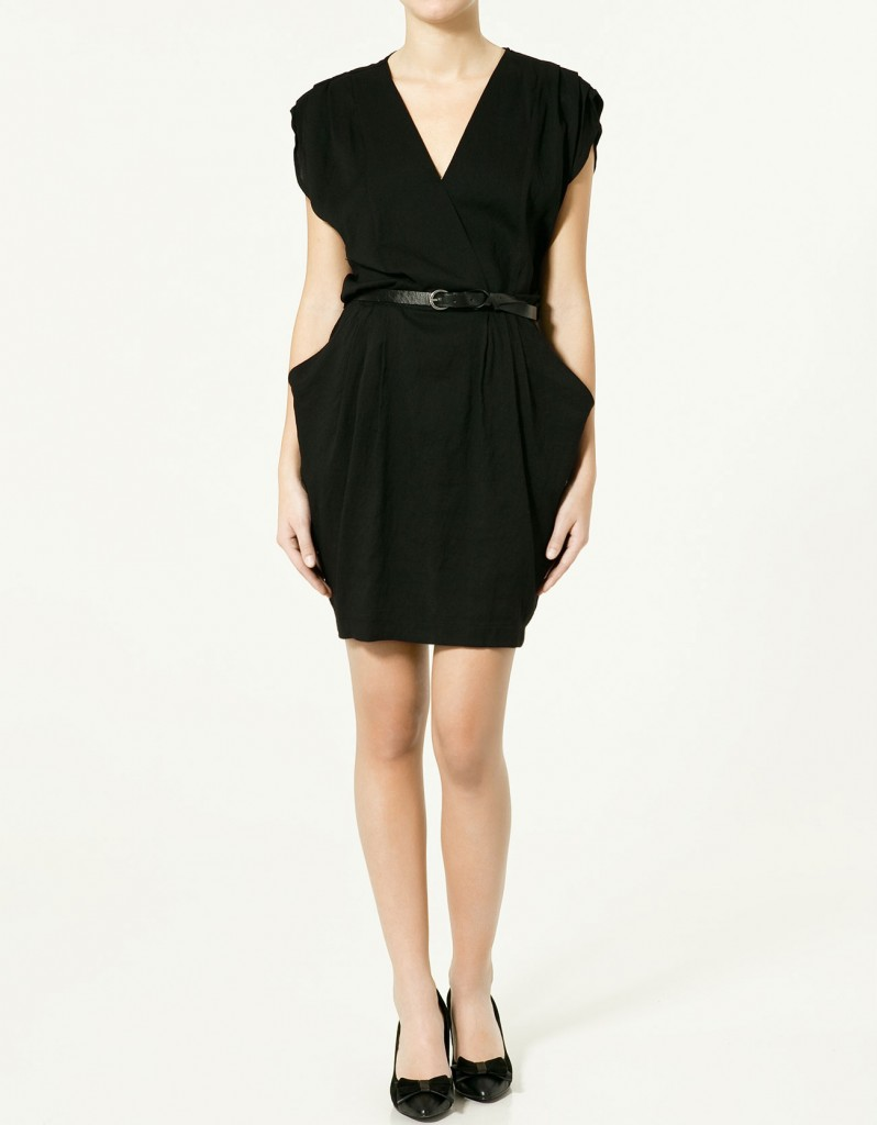siyah cepli kemerli elbise modeli
