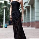 siyah farklı balık elbise modeli