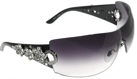 taşlı çiçekli bayan güneş gözlük