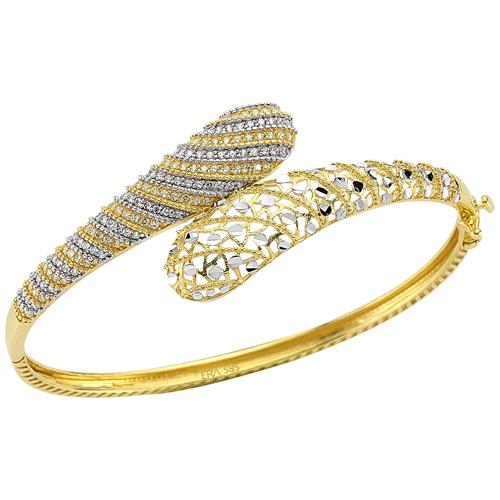 yılan şekili taşlı altınbaş bileklik