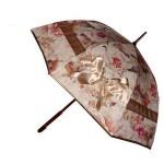 çiçekli fiyonk detaylı şemsiye modeli