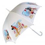 şık beyaz şemsiye modeli