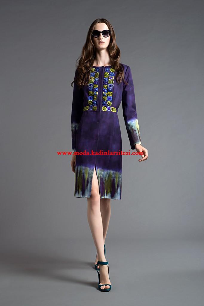 alberta ferretti yırtmaçlı elbise modeli