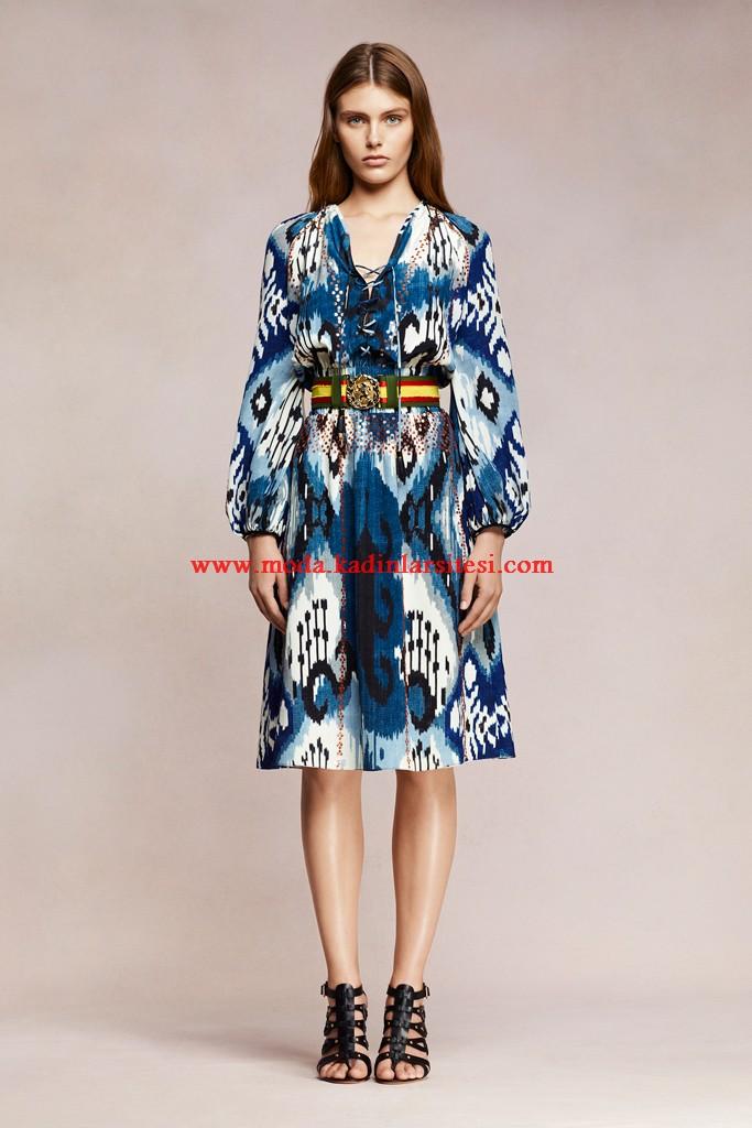 altuzarra mavi elbise modeli