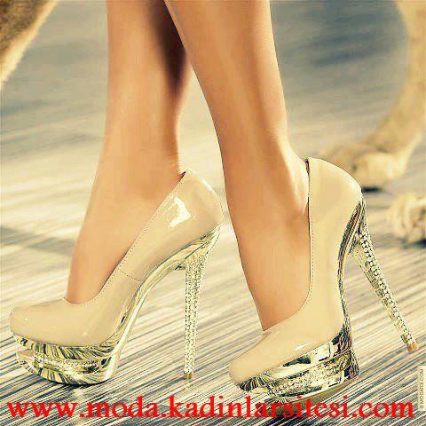 aynalı platform ayakkabı modeli
