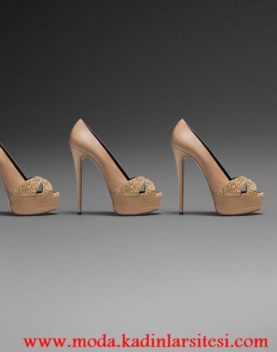 bej ayakkabı modeli
