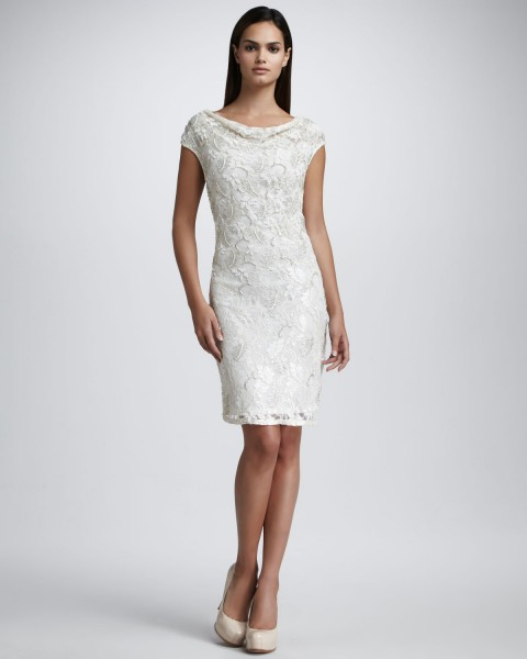 2013 koleksiyon elbise modelleri beyaz dantelli elbise modeli