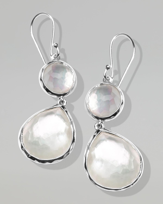 beyaz parlak taşlı küpe modeli