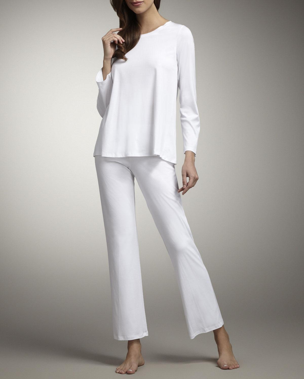 beyaz sade pijama takımı