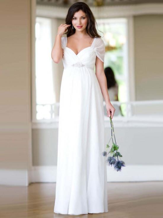 beyaz taş detaylı hamile elbisesi yeni