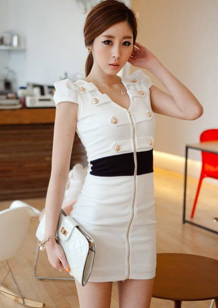 beyz fermuarlı elbise modeli