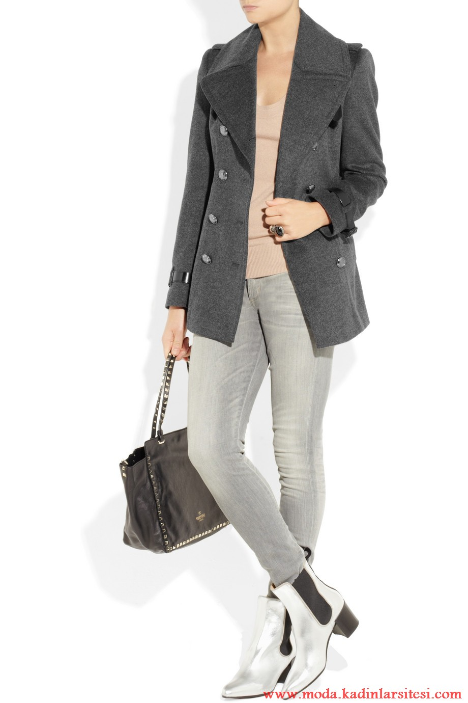 burberry london füme kaban kot pantolon modeli