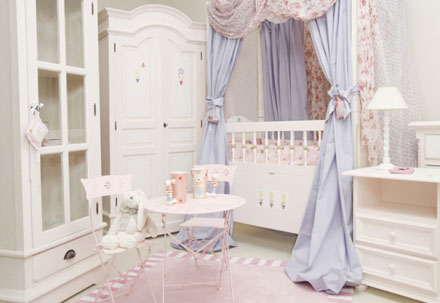 chambre beyaz bebek odası modeli