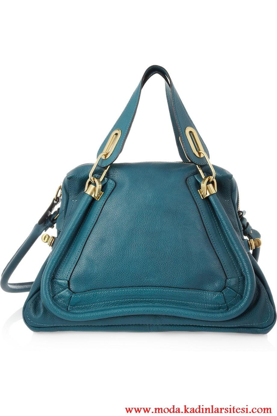 chloe mavi omuz çantası