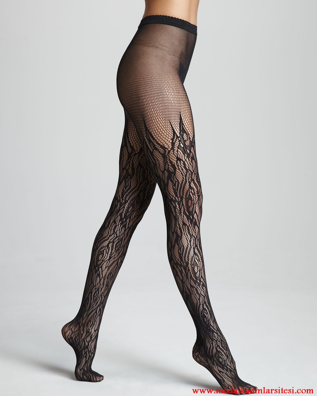 desenli çorap modeli