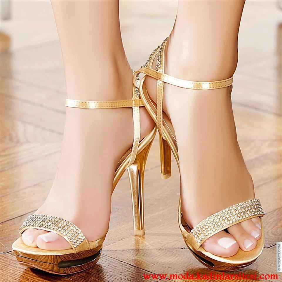 dore taşlı ayakkabı modeli