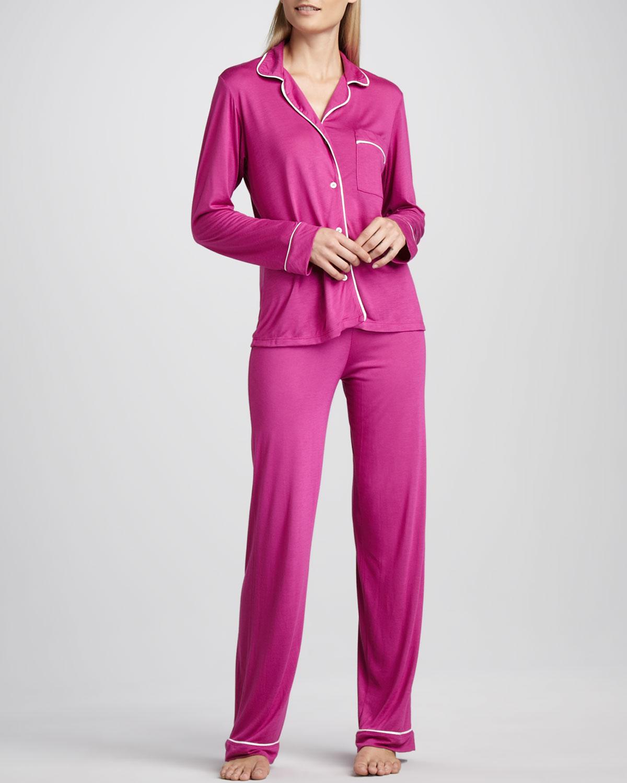 fuşya sade penye pijama takımı