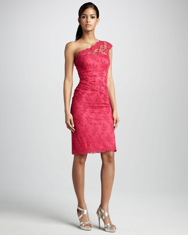 fuşya tek omuz elbise modeli