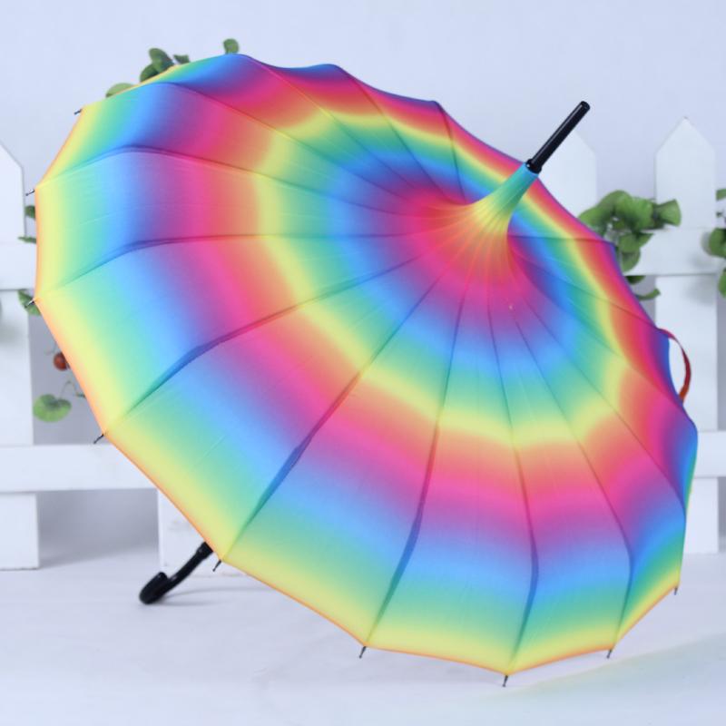 gökkuşağı detaylı şemsiye modeli