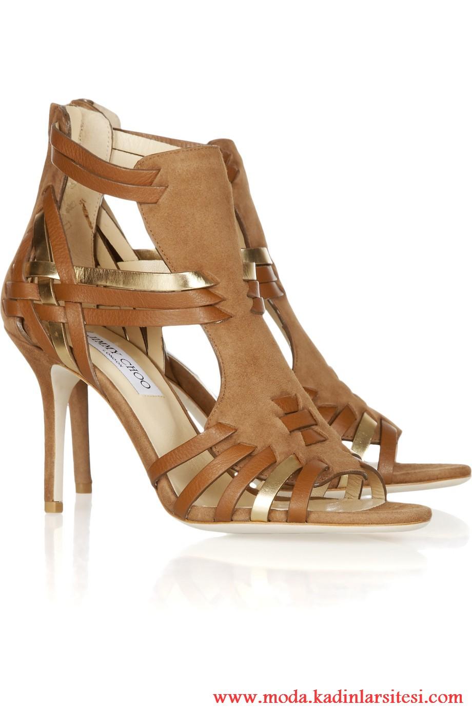 jimmy choo kahve rengi ayakkabı modeli