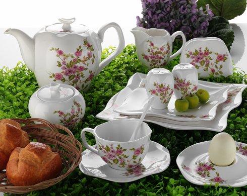 kütahya porselen seramik çaydanlık kahvaltı seti
