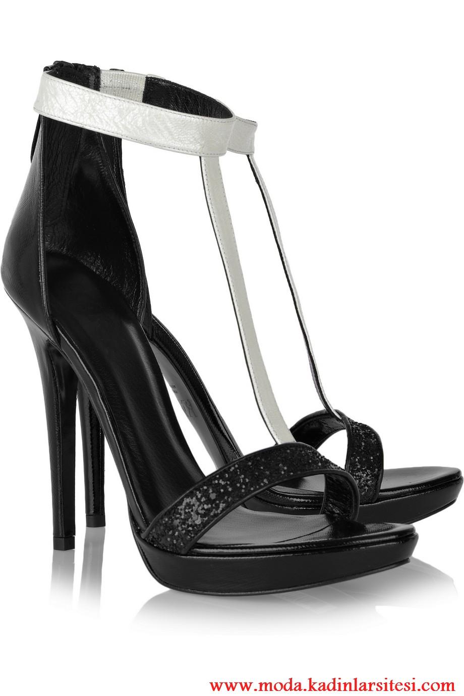 karl siyah ayakkabı modeli