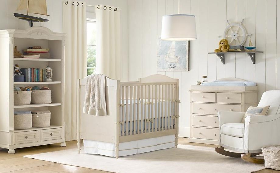 krem bebek odası modeli
