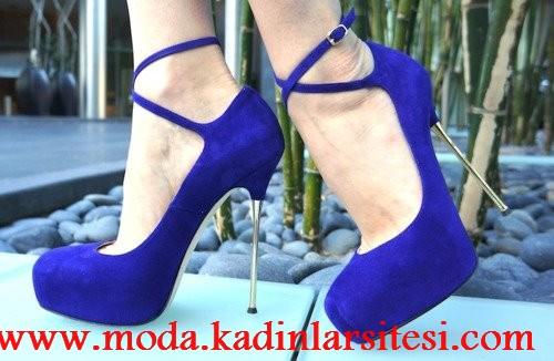 lacivert ayakkabı modeli