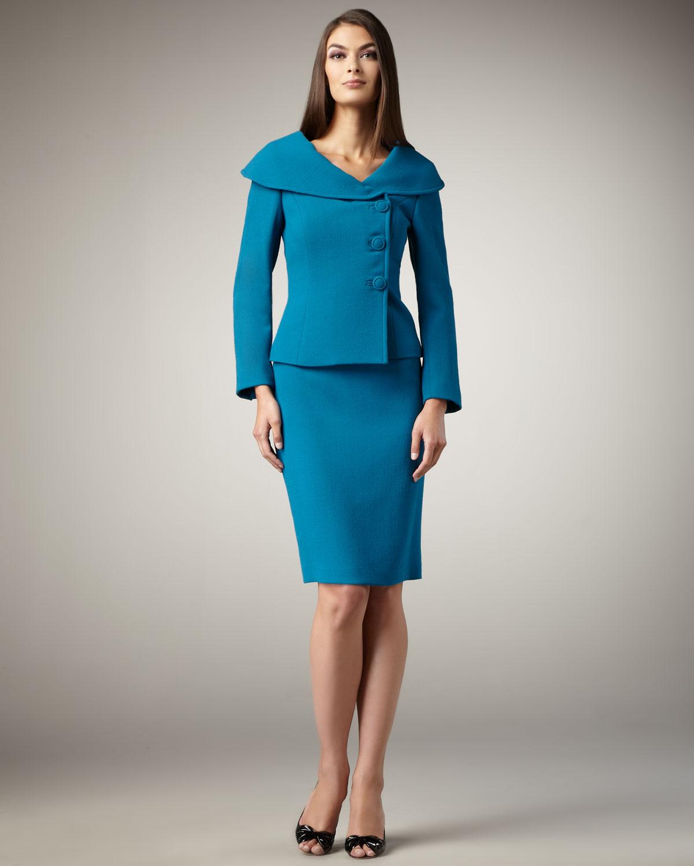 mavi devrik yaka etek ceket modeli